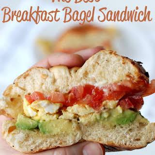 The Best Breakfast Bagel Sandwich.