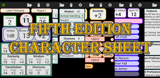 Fifth Edition Character Sheet - Apps on Google Play