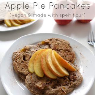 Apple Pie Pancakes (vegan and with spelt flour)