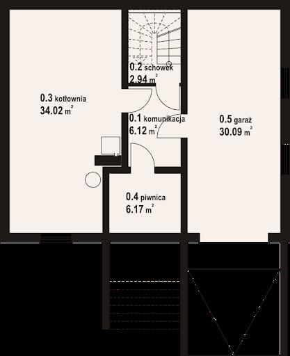 Jaworki 19 dw - Rzut piwnicy