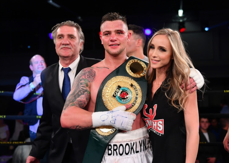South African boxer Kevin Lerena during the Emperors Explosion Boxing event at Emperors Palace on September 09, 2017 in Johannesburg, South Africa.