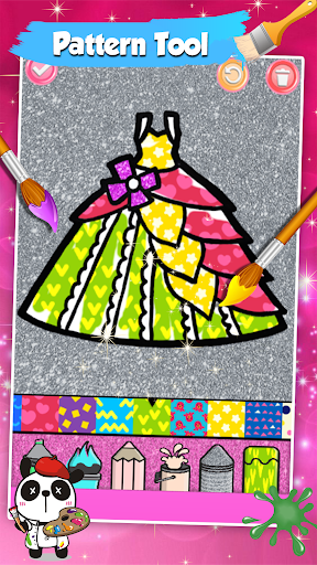 Glitter Dresses Coloring Book For Kids screenshot 4