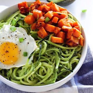 Zucchini Noodle Breakfast Bowl.