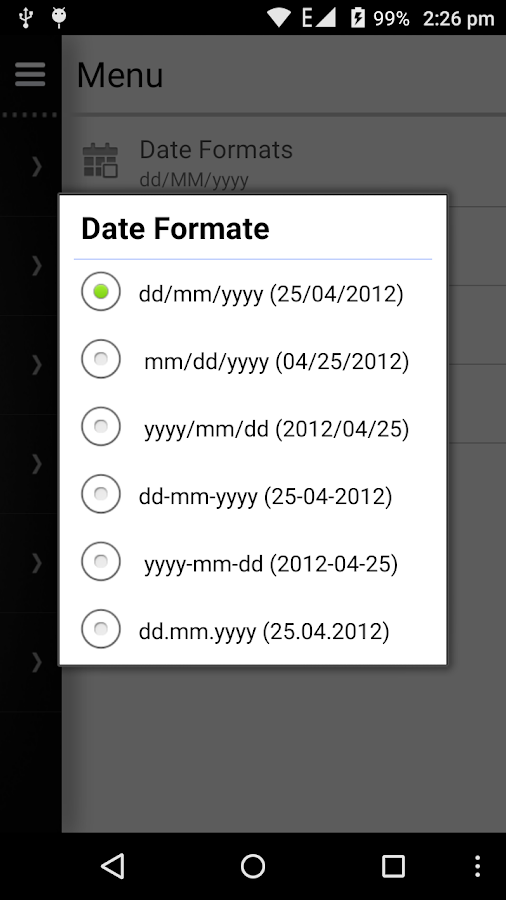 Date Calculator - The main window of Date Calculator enables you to ...