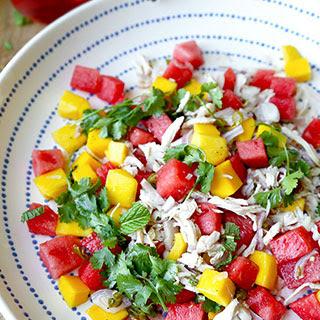 Mango and Watermelon Chicken Salad