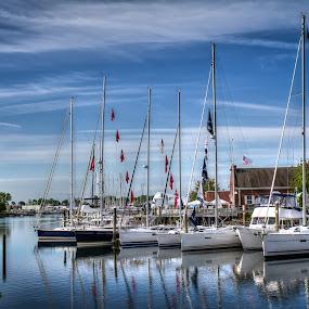 Sailboats by Joe Palisi - Transportation Boats ( water, sailboat )