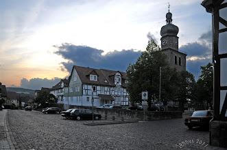 Photo: Die Auferstehungskirche auf dem Marktplatz in Bebra / Hessen