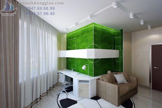 thiết kế phòng ngủ hợp lý theo phong cách thể thao