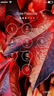 Autumn Leaves PIN Screen Lock - náhled