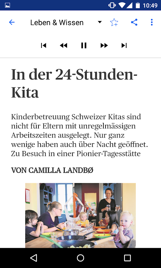 bz Baselland E-Paper- screenshot