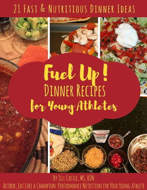 Fuel Up! Dinner Recipes for Athletes book cover by Jill Castle, MS, RDN