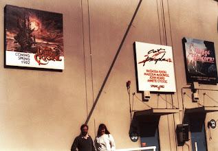 Photo: Universal Studios ja vuoden 1982 elokuvamainoksia (ja me, alalaidassa)