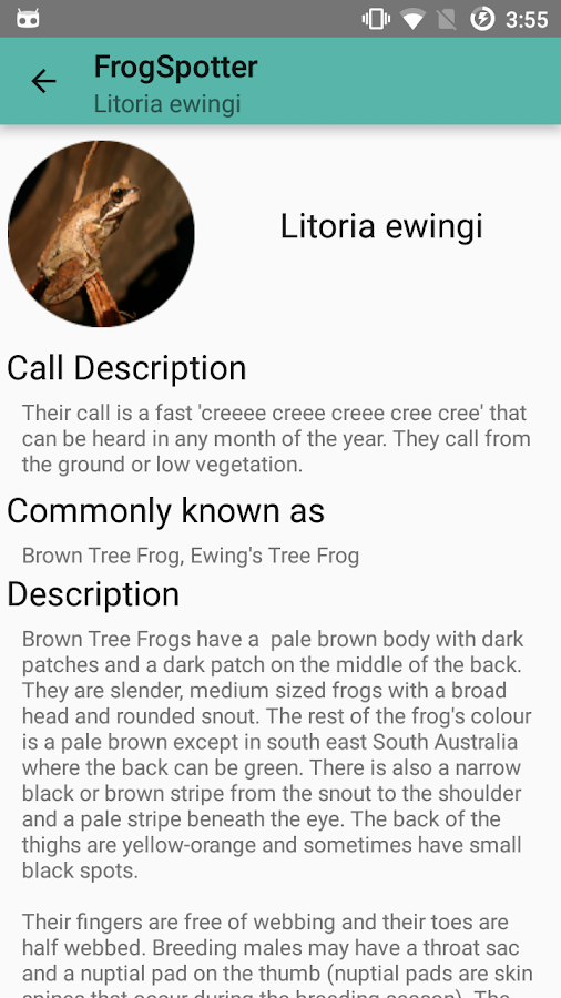 Frog Spotter- screenshot