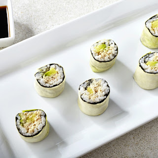 Spicy Zucchini Tuna Rolls.