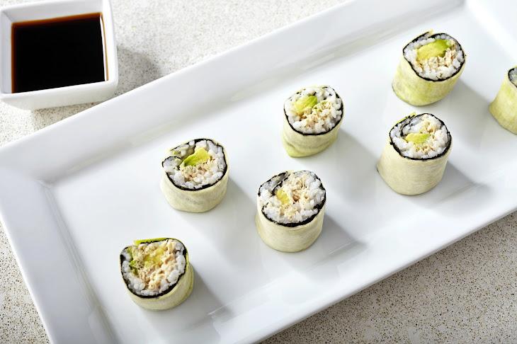 Spicy Zucchini Tuna Rolls