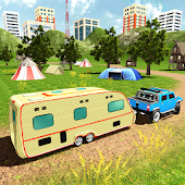 Camper Van Truck Simulator: RV Hummer Trailer Car