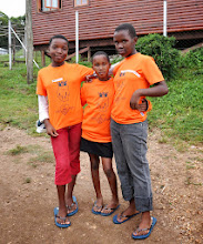 Photo: Proud of their new shoes and shirts.