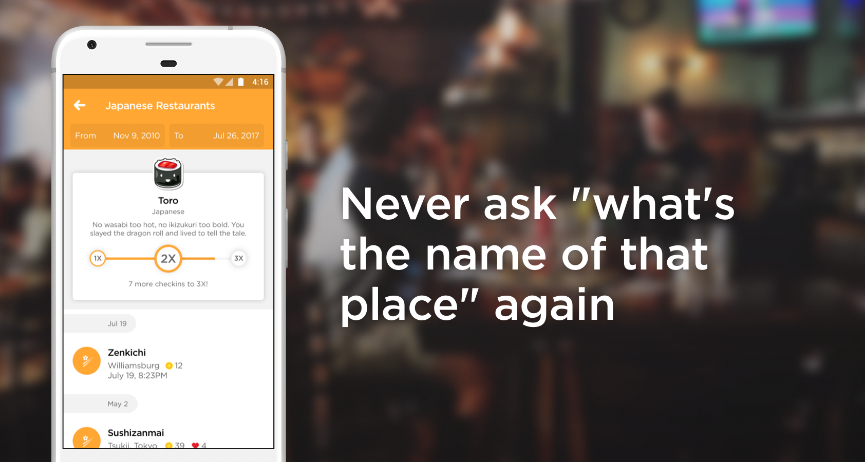 Foursquare Swarm: Check In- screenshot