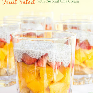 Tropical Sunrise Fruit Salad with Coconut Chia Cream