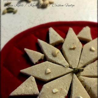 Kaju Katli / Kaju Barfi / Cashew Fudge