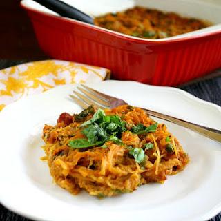 Vegan Italian Spaghetti Squash Bake (Vegan, Gluten-Free, Dairy-Free, Egg-Free, Paleo-Friendly).