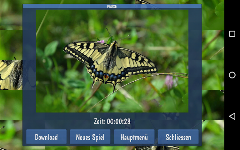 android Tile Puzzles · Butterflies Screenshot 10