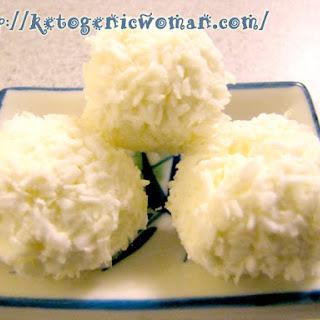 Keto Lemon Coconut Balls (AKA Low Carb Cheesecake!).