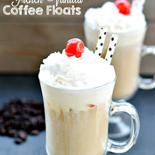 French Vanilla Coffee Float.