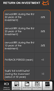 Photovoltaic Estimation & IRR- screenshot thumbnail