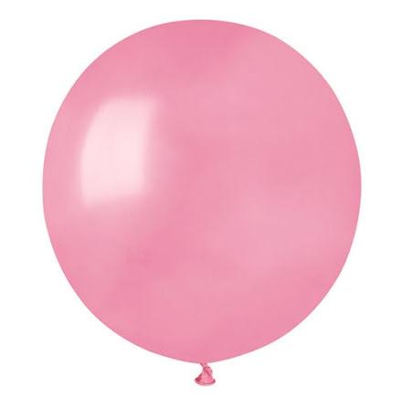 Ballonger helrunda 48 cm, rosa