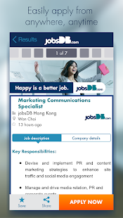 jobsDB Job Search- screenshot thumbnail
