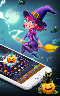 Halloween Witch Connect - Halloween games Screenshot