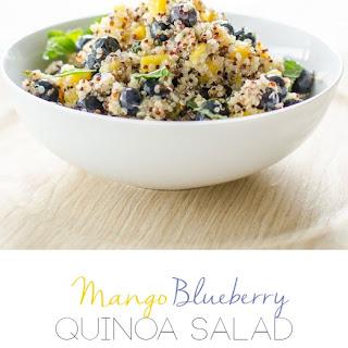 Mango Quinoa and Blueberry Salad