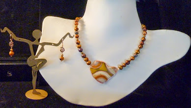 Photo: <BEREHYNYA> {Great Goddess Protectress} unique one-of-a-kind statement jewellery by Luba Bilash ART & ADORNMENT  DESTINY – ДОЛЯ - copper enamel pendant, FW pearls, rose gold vermeil SOLD/ПРОДАНИЙ  http://www.wikihow.com/Clean-A-Pearl-Necklace