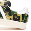 adidas x a bathing ape superstar 80's green camo, white & off white