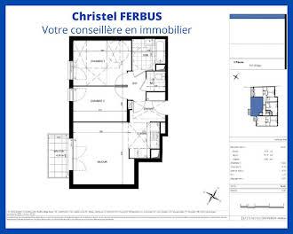 Appartement 3 pièces 56,63 m2