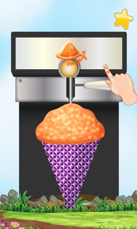 frozen snow cone machine