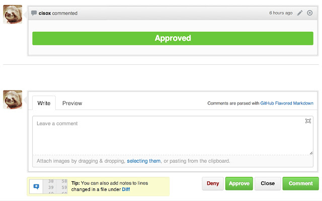 GitHub Approve/Deny
