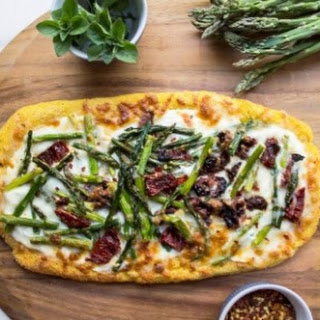 Asparagus Polenta Pizza.
