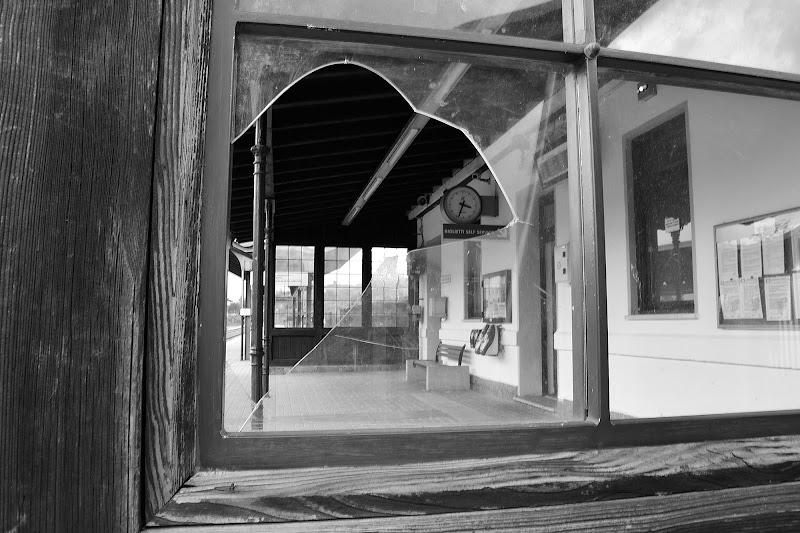 Il vetro della stazione di FlyBoy