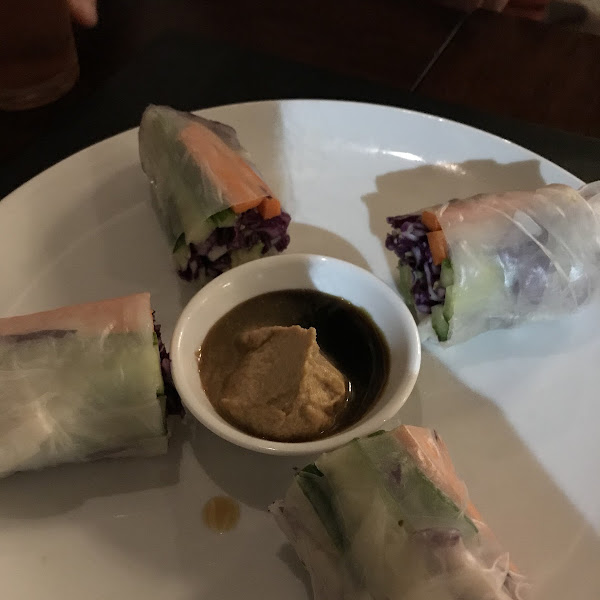 Spring Rolls with peanut butter & soy sauce
