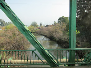 Photo: The mighty (not!) Jordan River north of Galilee