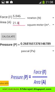 Pressure Calculator ADFREE - náhled