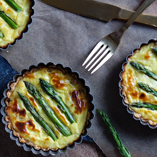 Three Cheese Asparagus Tart