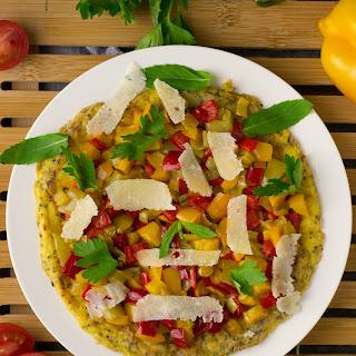 Gluten Free Ricotta Pepper Omelet.