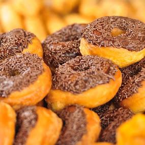 Chocolate Donuts by Mohd Nazeerul - Food & Drink Cooking & Baking ( pasar malam, gerai ramadhan, brunei )