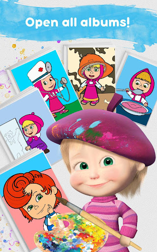 Masha and the Bear: Free Coloring Pages for Kids 1.0.3 screenshots 24