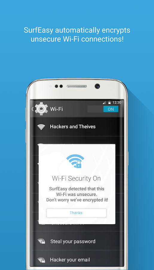 SurfEasy: Free VPN for Android- screenshot