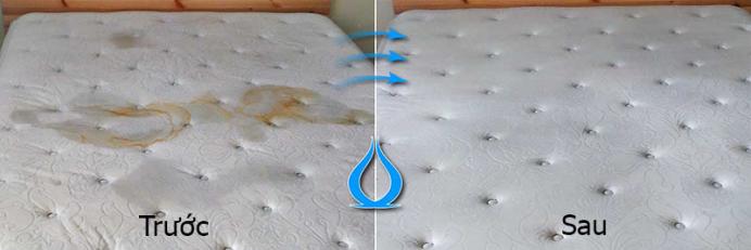 Hình ảnh trước và sau khi sử dụng dịch vụ vệ sinh nệm bTaskee