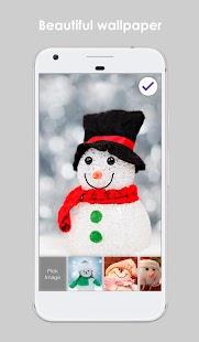 Snowman Balls Frozen Wallpaper AppLock Security - náhled